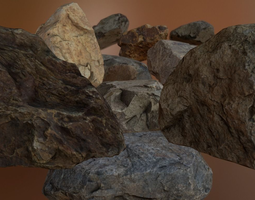 Rock Pack 1 3D asset