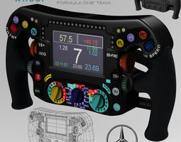 Mercedes W06 Steering wheel 3D model