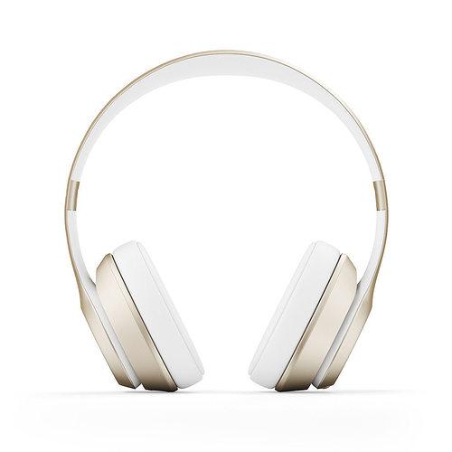 golden headphones 3d model max obj fbx c4d mtl 1