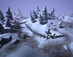 3D asset realtime Winter Forest