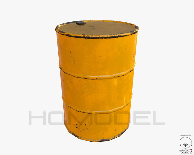 oil barrel pbr 3d model low-poly obj tga tbscene 1