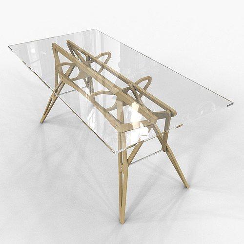 Table Reale Zanotta Carlo Mollino 3d Cgtrader