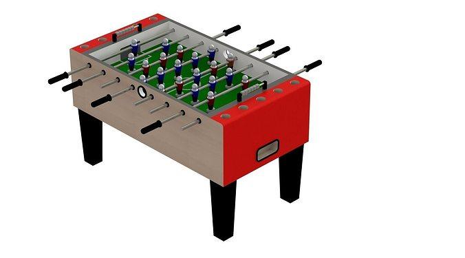 voetbaltafel - soccer table - fussball 3d model stl dwg sldprt sldasm slddrw 1