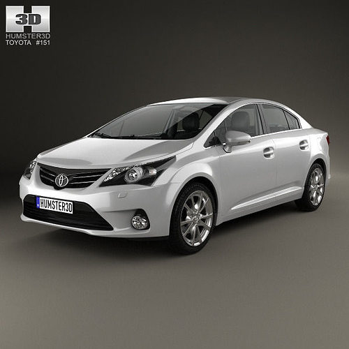 3d toyota avensis with hq interior 2012 cgtrader. Black Bedroom Furniture Sets. Home Design Ideas