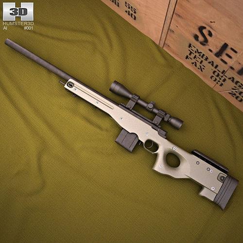 Accuracy International Arctic Warfare L96A1 | 3D model