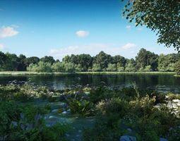 3D model Riparian Landscape 2