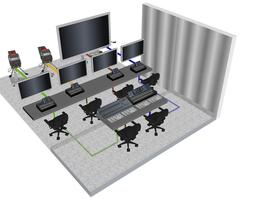 News Room On Air Control Room 3D