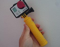 gopro hand grip 3d printable model