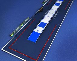 Fencing piste arena 3D model