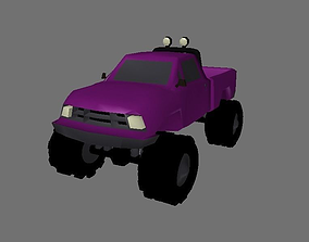 Purple Monster Truck 3D model
