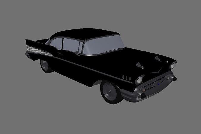 1957 chevy bel air 3d model lwo lw lws 1