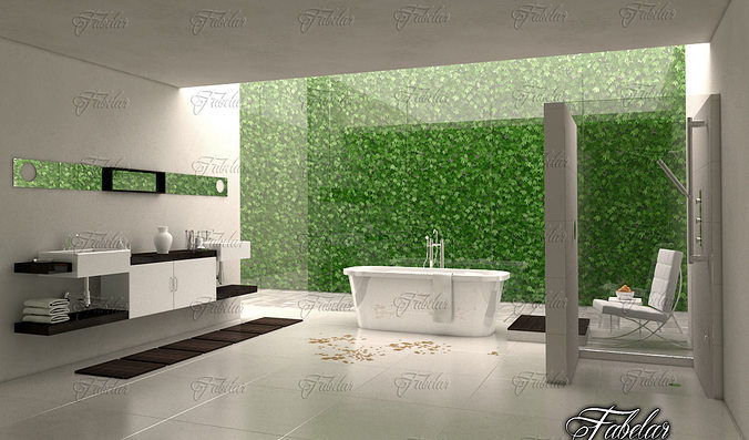 bathroom 3d model max obj 3ds fbx c4d dae 1