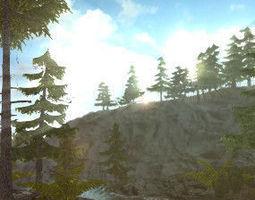 3D Conifer Forest Pack
