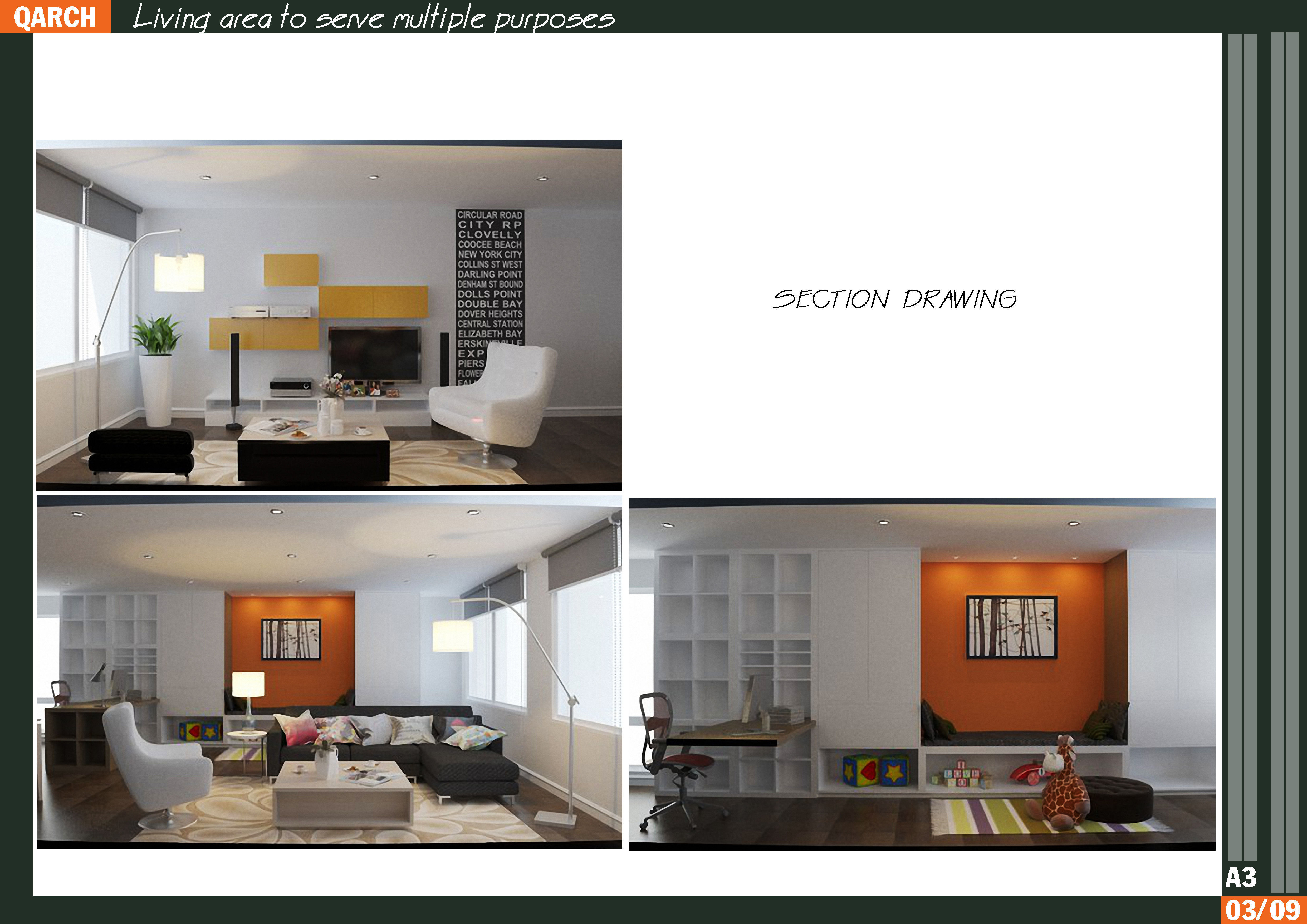 8 - Living area to serve multiple purposes 3D model MAX