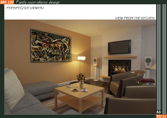 9 family room interior design 3d model max for 3d living room layout