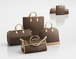 3D Louis Vuitton handbags