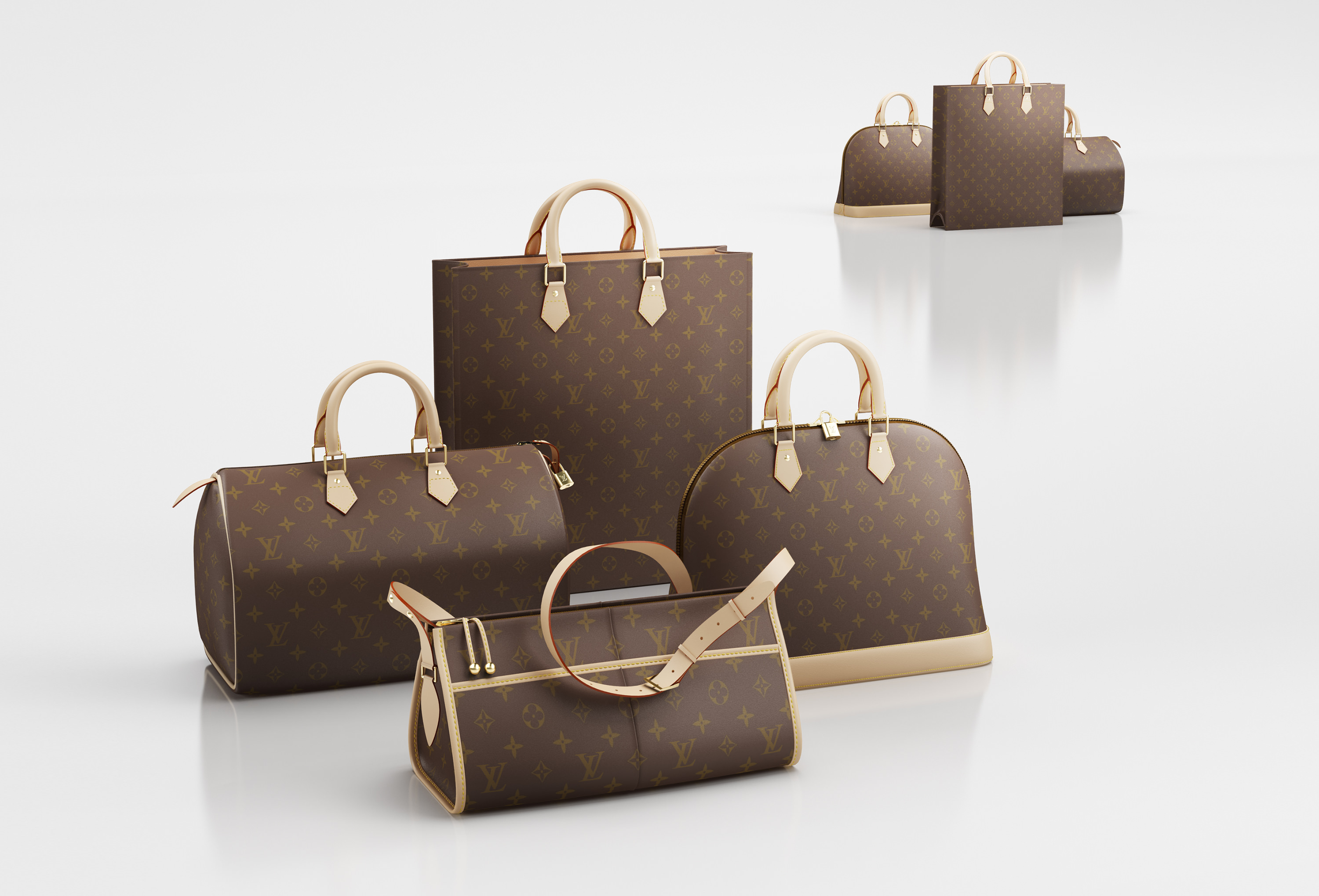 3d Louis Vuitton Handbags Cgtrader