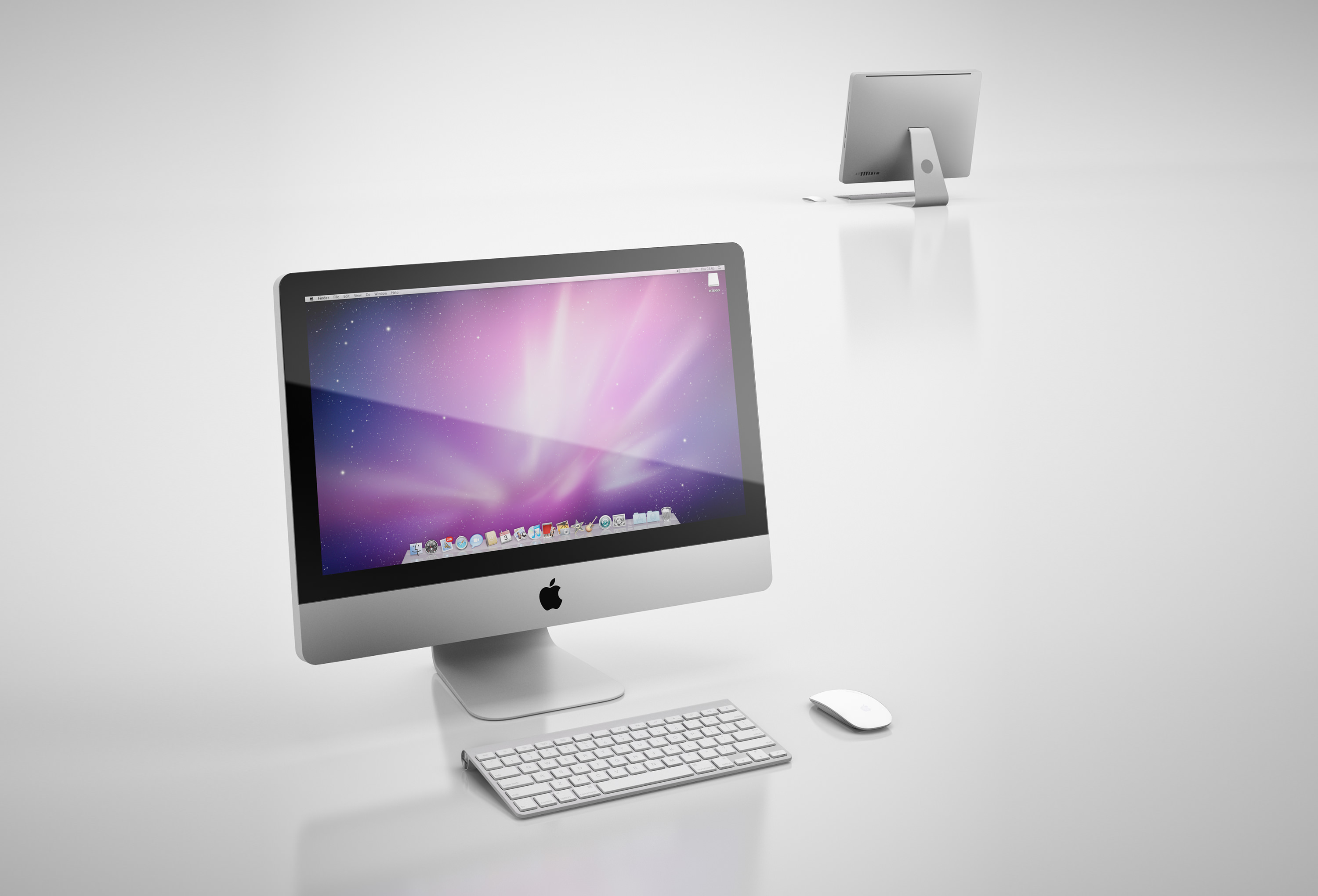 Apple imac 3d model max obj 3ds c4d mtl for Mobel 3d download