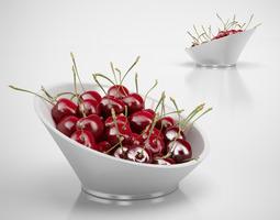 Bowl of cherries 3D model