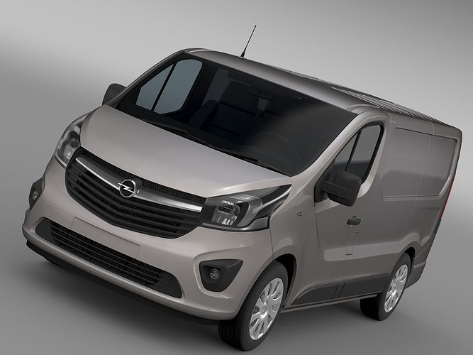 opel vivaro van 2017 3d cgtrader. Black Bedroom Furniture Sets. Home Design Ideas