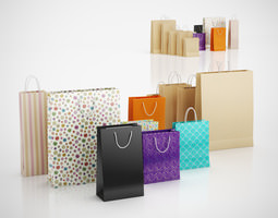 3d paper shopping bags