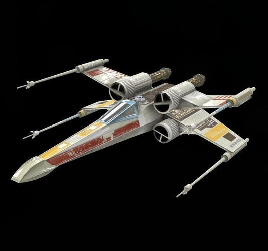 star war  xwing game res model  3d model low-poly obj tga 1