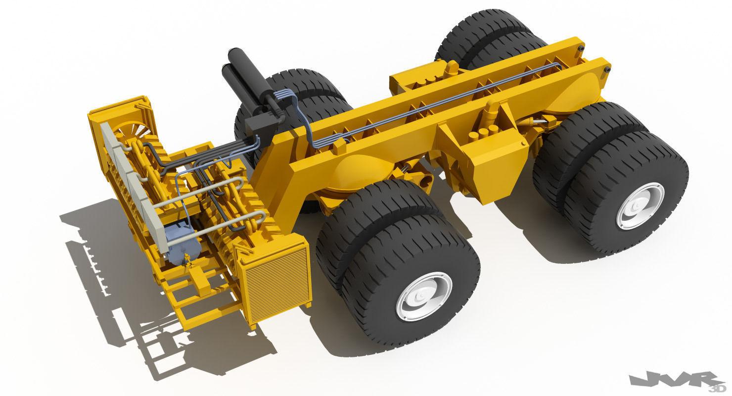 belaz 75710 mining truck 3d model max obj 3ds fbx mtl pdf