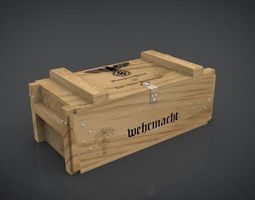 ammo-crate wehrmacht ww2 low-poly 3d model