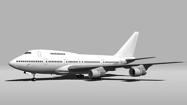 3d Template Boeing 747sp Cgtrader