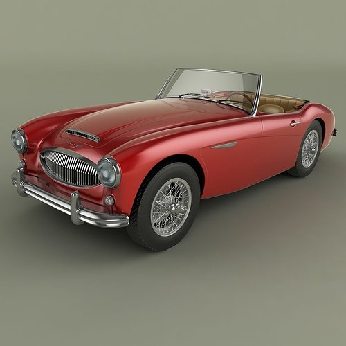 austin-healey 3000 mk2 3d model max obj mtl 3ds fbx dwg 1
