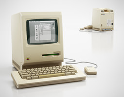 3D Classic Apple computer