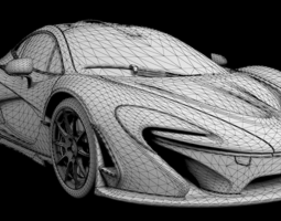 3d model mclaren p1 highly detailed animated with interior