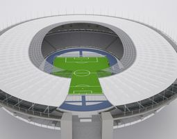 olympic berlin stadium hq game-ready 3d asset