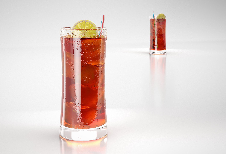 3d Ice Tea Glass Cgtrader
