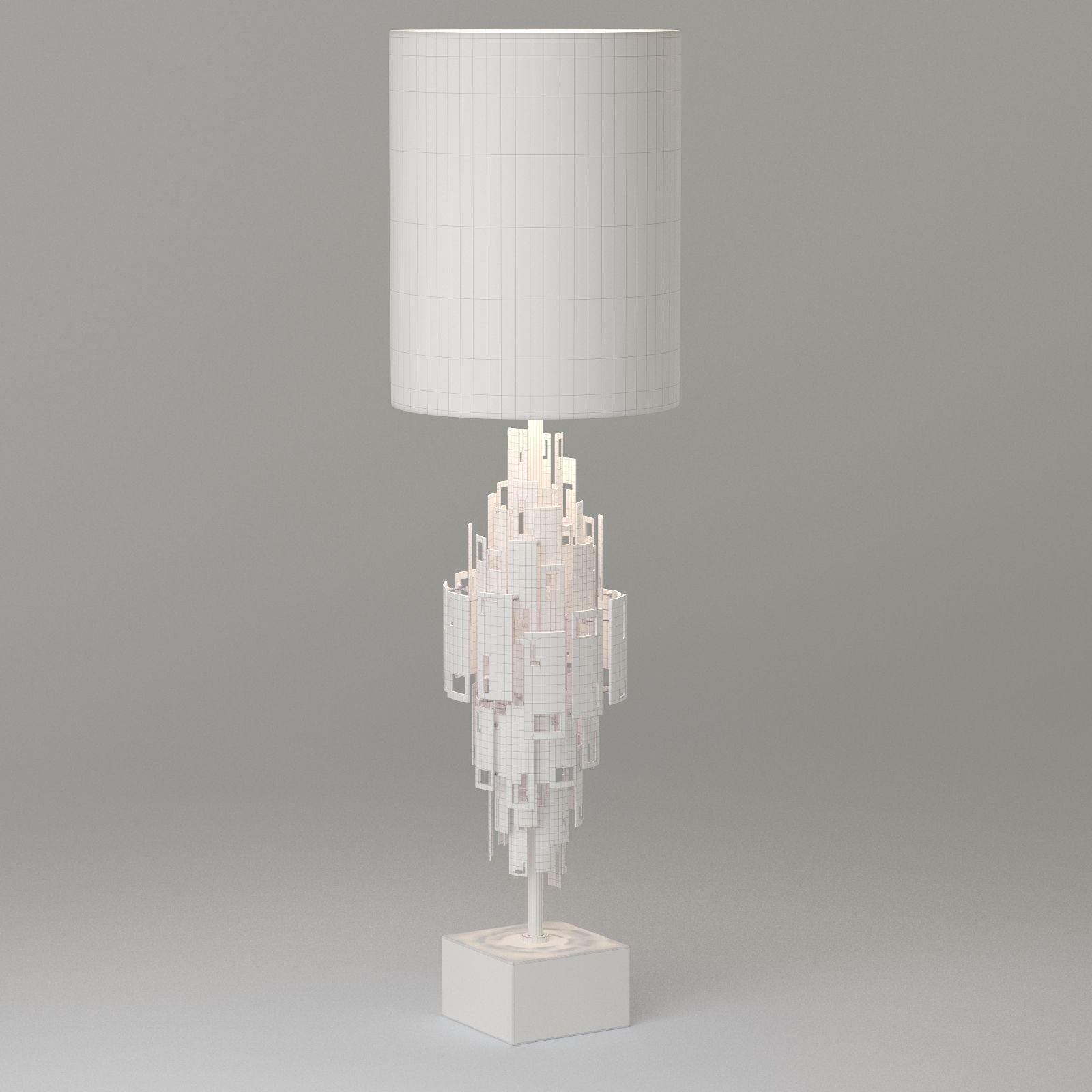 Lampada Da Tavolo 1 Light 3D Model .max .obj .fbx - CGTrader.com