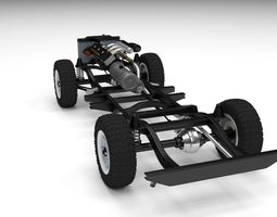 offroad truck chassis 3d