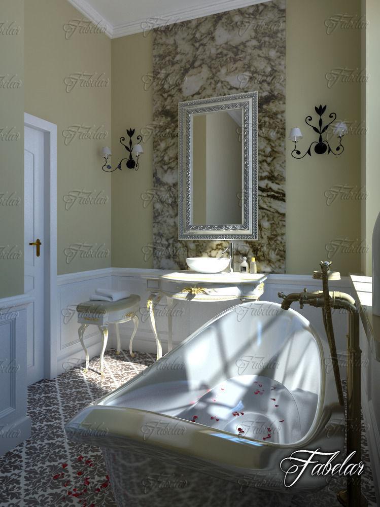 Bathroom 69 3d model max obj 3ds fbx c4d dae for Bathroom models images