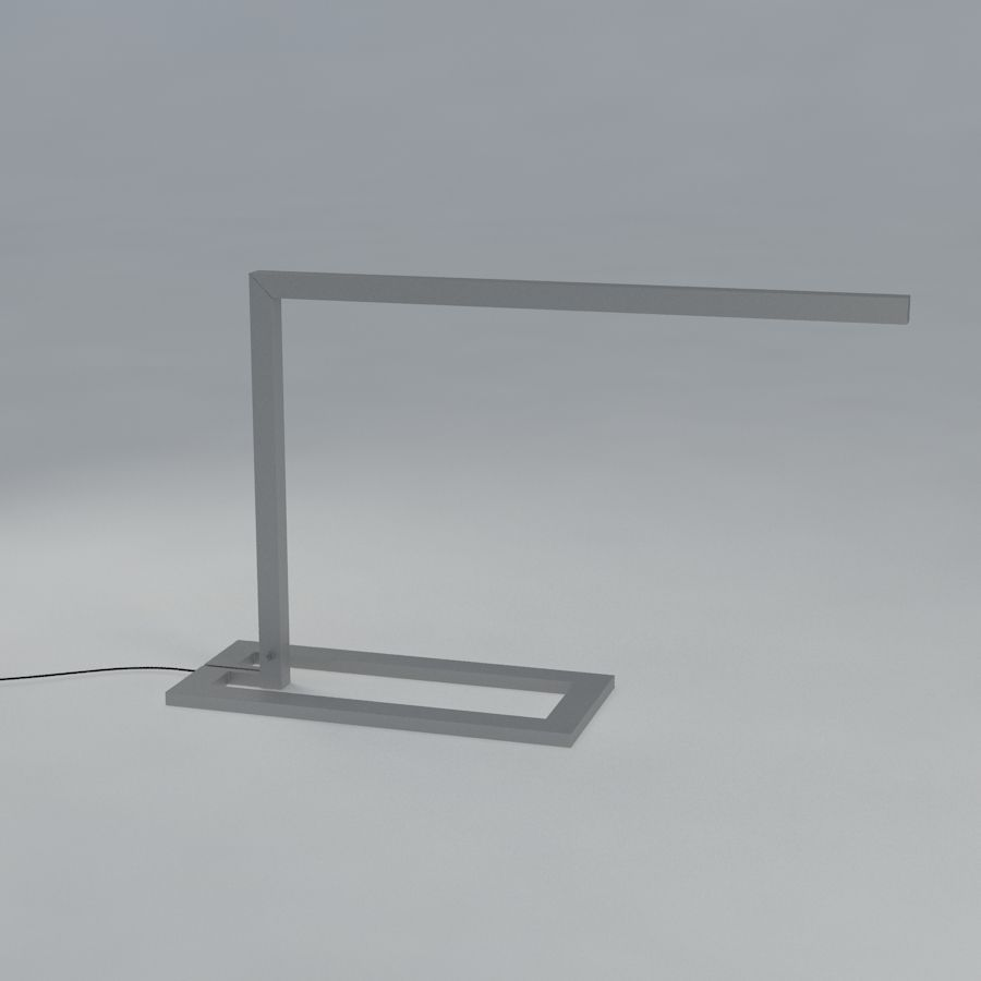 Floor lamp and reading light draad by bern 3d model max for Reading lamp floor model
