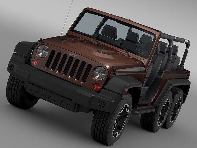 jeep wrangler rubicon 6x6 2016 3d model cgtrader. Black Bedroom Furniture Sets. Home Design Ideas