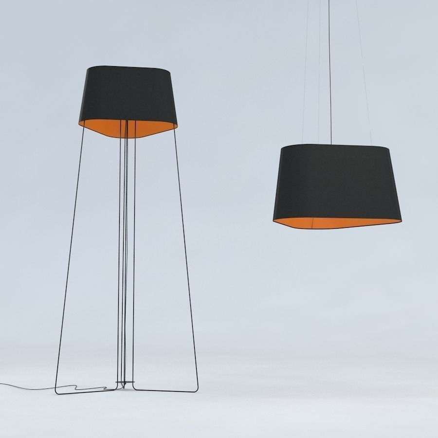 ... Floor Lamp And Hanging Lamp Trinitas By Dogg Design 3d Model Max Obj  Fbx Mtl Tga ...