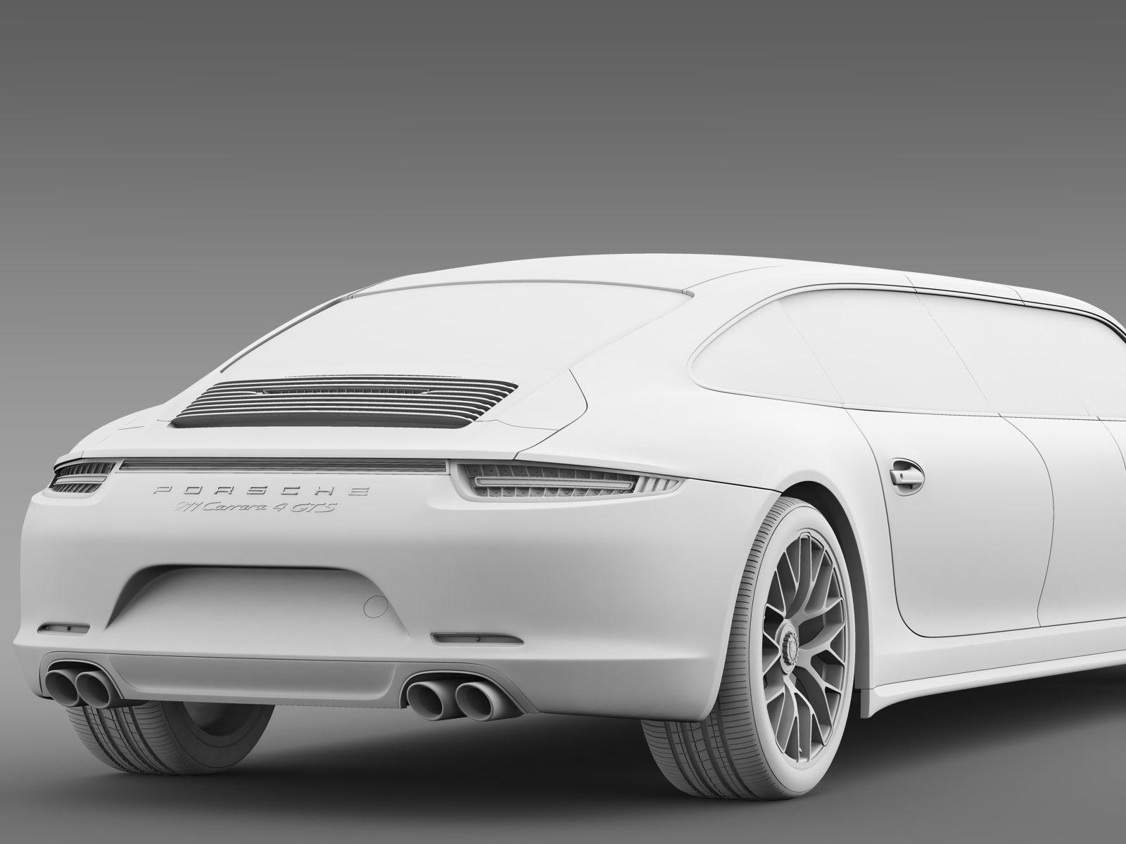porsche 911 carrera 4 gts limousine 2016 3d model max obj 3ds fbx c4d lwo lw lws. Black Bedroom Furniture Sets. Home Design Ideas