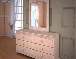 Ashley Cottage Retreat Dresser Mirror 3D Model