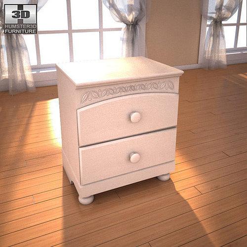 3D model Ashley Cottage Retreat Sleigh Bedroom Set VR / AR / low ...