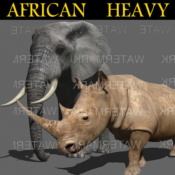 African heavy pack - 3d model