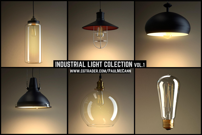 Industrial Lights Collection Vol 1 3d Model Max Obj