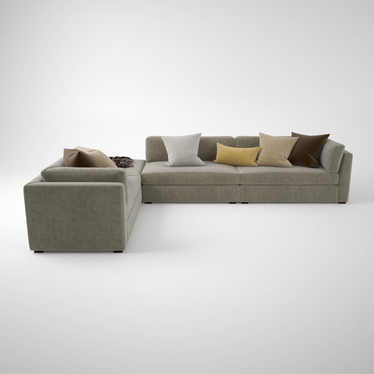 3d Model Busnelli Oh Mar Corner Sectional Sofa Cgtrader ~ Sectional Sofa Table Corner