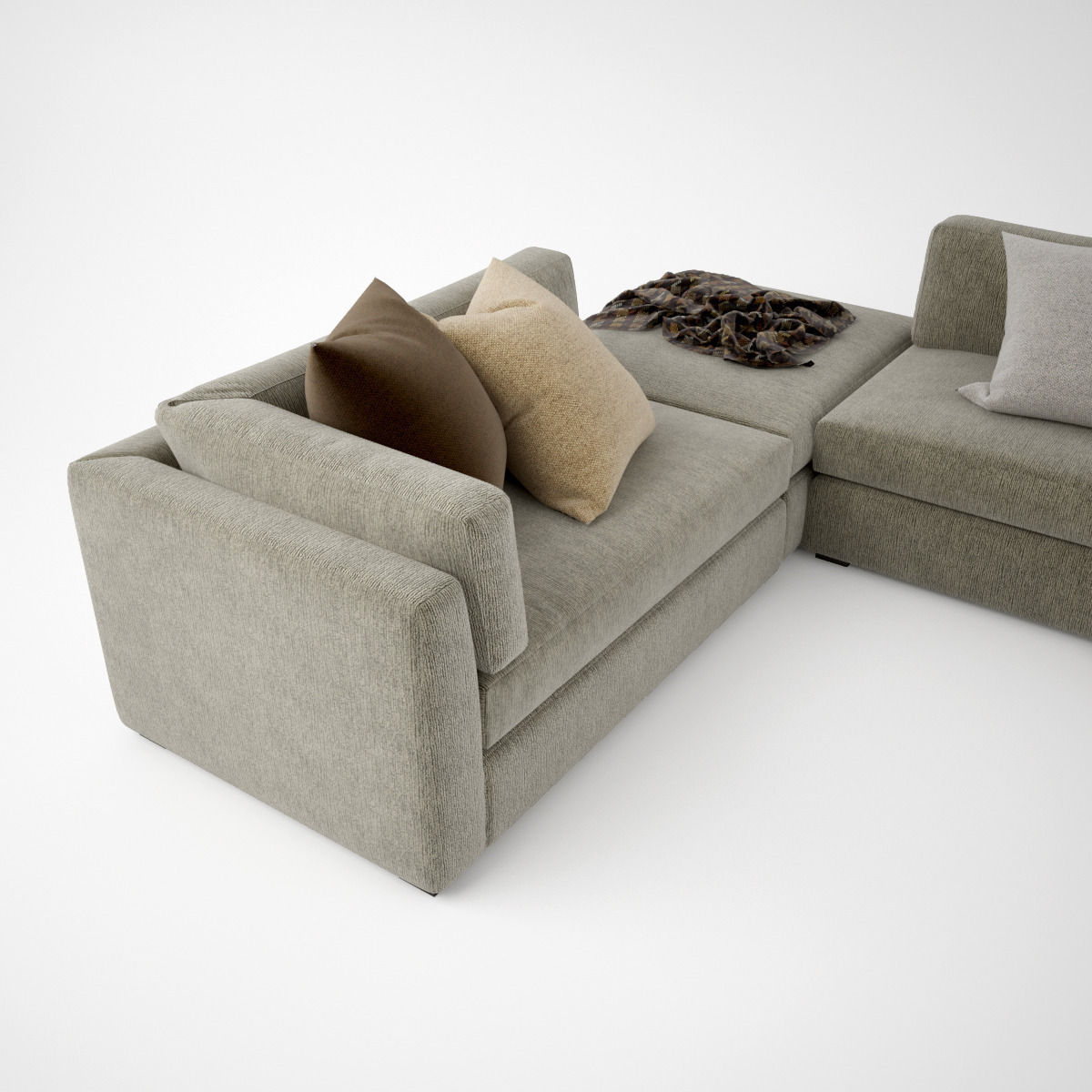 ... busnelli oh-mar corner sectional sofa 3d model max obj fbx 7 ... : corner sectional chair - Sectionals, Sofas & Couches