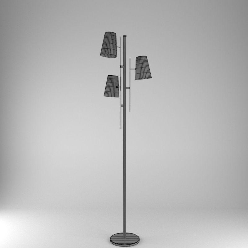 Floor lamp a006 3d model max obj 3ds fbx cgtradercom for Floor lamp 3ds max free model