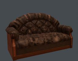3D model furniture-challenge Leather sofa