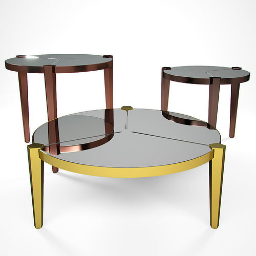 Fendi casa regina coffe table collection d model max obj fbx